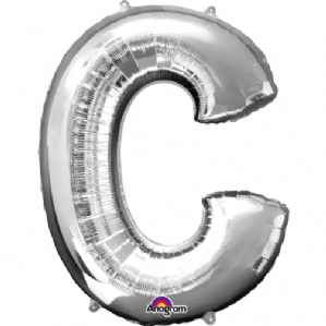 "Silver Letter C Mini-Foil Balloon (16"" Air) 